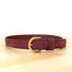 Coach Belt Suede Leather | S | Eggplant